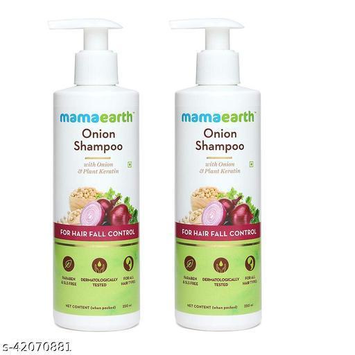 Mama Earth Onion Hair Fall Shampoo for Hair Growth & Hair Fall Control, with Onion Oil & Plant Keratin 250ml