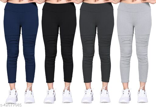 Trendy Women Jeggings Pack of 4(Size:-26 to 36)