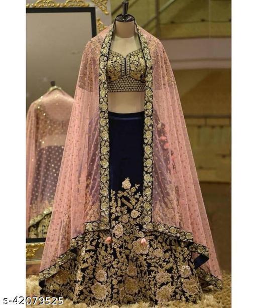 Womens Heavy Embroidered Work Wedding Lehenga Choli