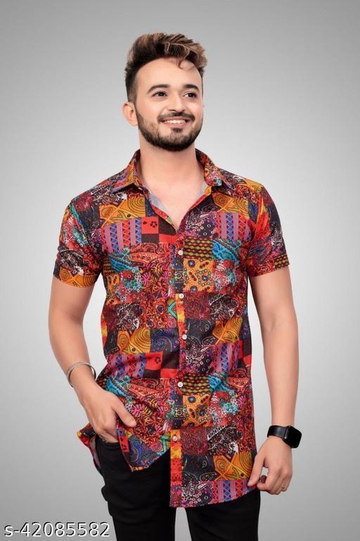 Stylish Man Printed Rayon Shirt