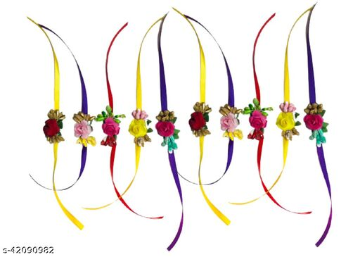 Rakhi Pack Of 10 Designer Multicolor For Brother Bhaiya Bhabhi Rakhi Fancy Rakhi For Brother