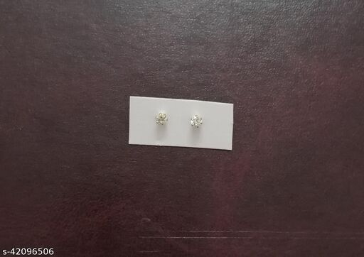 Gold plated AD piercing nosepin stud combo of 2 nosepins for woman and girls (screw)