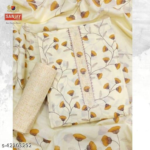 Sanjay Fab, Trendy, 100% Pure Cotton, Floral Cotton Printed Suits