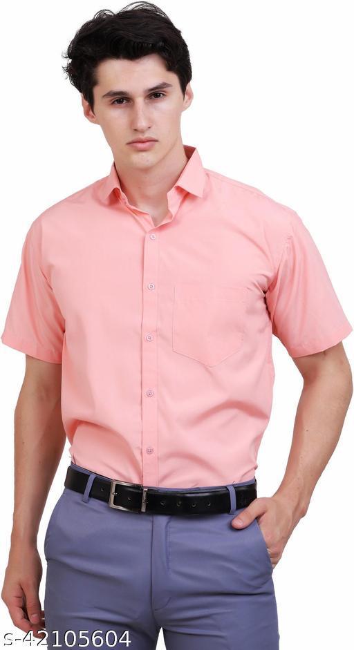 APPEL TOUCH Formal PEACH  half Sleeves Shirt