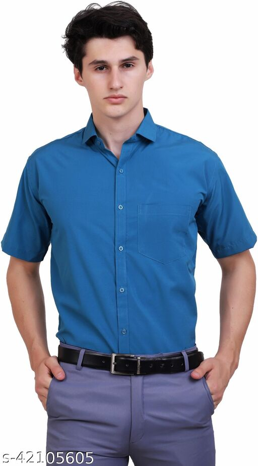 APPEL TOUCH Formal TEAL  half Sleeves Shirt