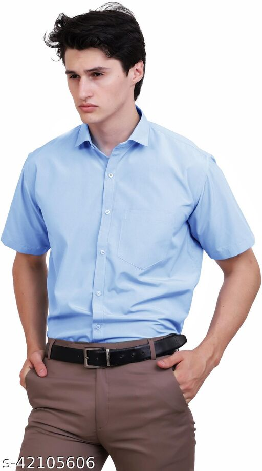 APPEL TOUCH Formal BLUE  half Sleeves Shirt