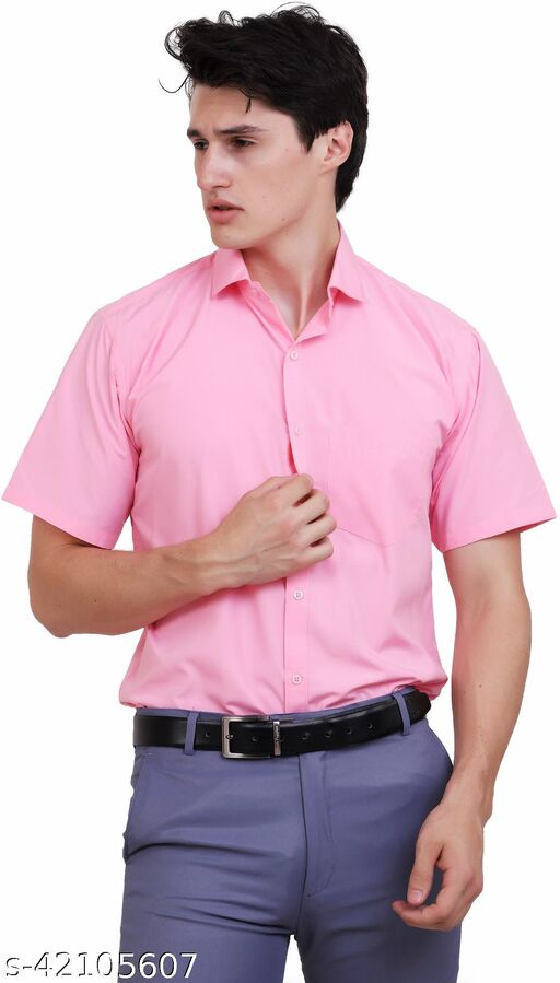 APPEL TOUCH Formal PINK  half Sleeves Shirt