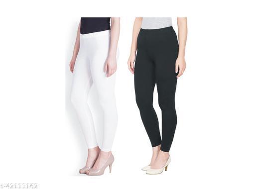 Royal Lyra Women Leggings (WHITE+BLACK)