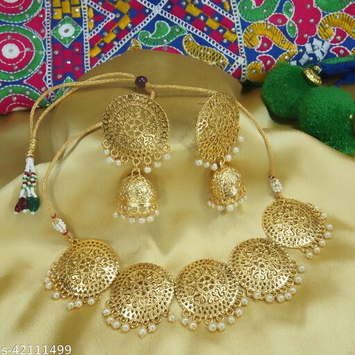 A1 Bhumika TrendzExclusive Pearls Gold Plated Wedding Jewellery Set For Women