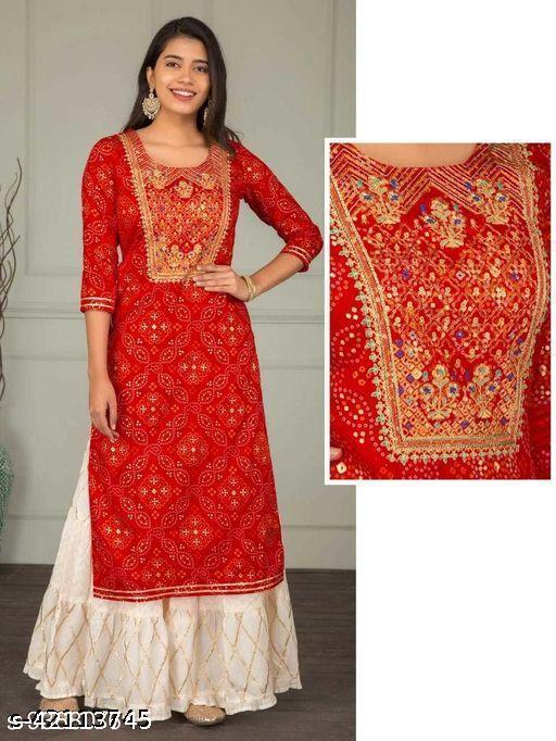 Fashionable kurta sharara set