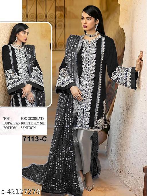 Aakarsha Graceful Semi-Stitched Suits