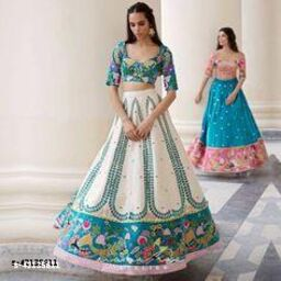Bollywood Style Lehenga Choli for women's Designer Lehenga for Bridal , latest Embroidred choli