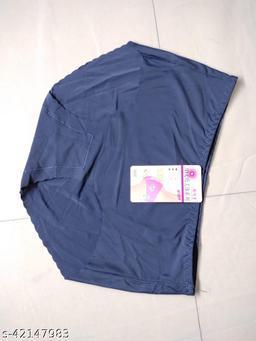 Women Seamless Navy Blue Silk Panty