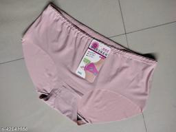 Women Seamless Peach Silk Panty