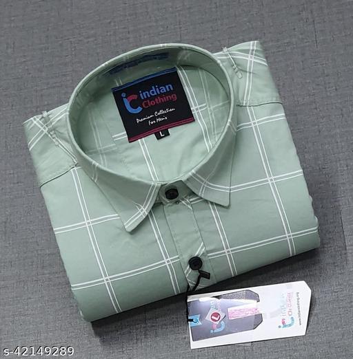 CAB Men's Cotton Grab Check full Sleeve Shirts