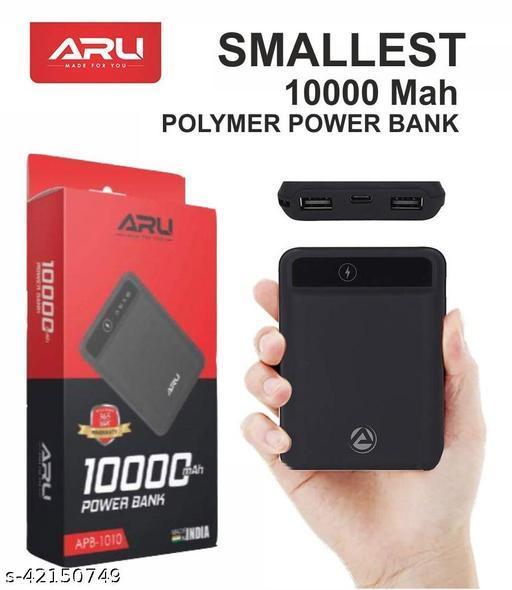 ARU Power Bank 10000 mah with fast charging with micro usb cable mi power bank realme power bank potronics power bank syska power bank