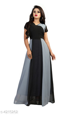 Printed Multicolor Maxi Georgette Dress