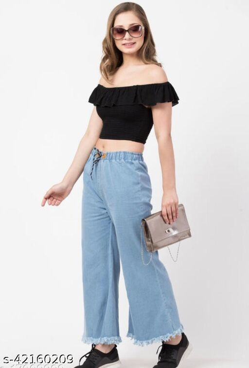 Attractive Women Palazzos_ Jeans