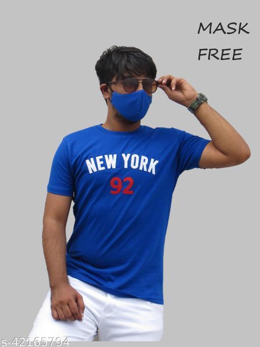 Men's Tshirt + Mask Free   Thin Fabric + Soft Feel   Cotton Slub 