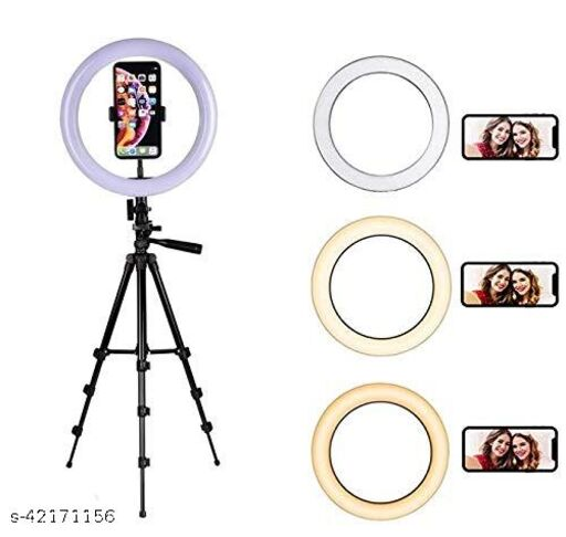 """10"""" Ring Light with 310 Tripod Stand & Flexible Phone Holder for Live Stream/MakeUP and Other Phone's App with 3 Mode Light"""