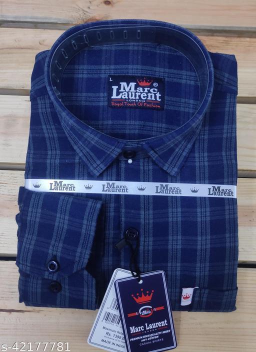 Pure cotton check shirt for Men, Single pocket, Full sleeves vol2