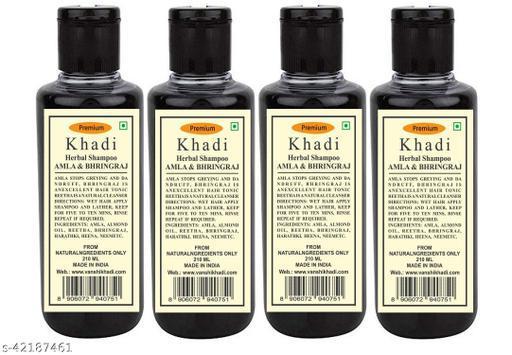 Khadi Herbal Amla & Bhringraj Shampoo 210ML ( Pack of 4)