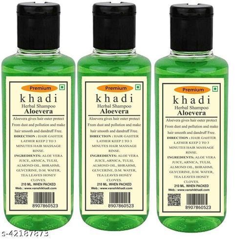 Khadi Herbal Aloevera Shampoo 210ML ( Pack of 3)