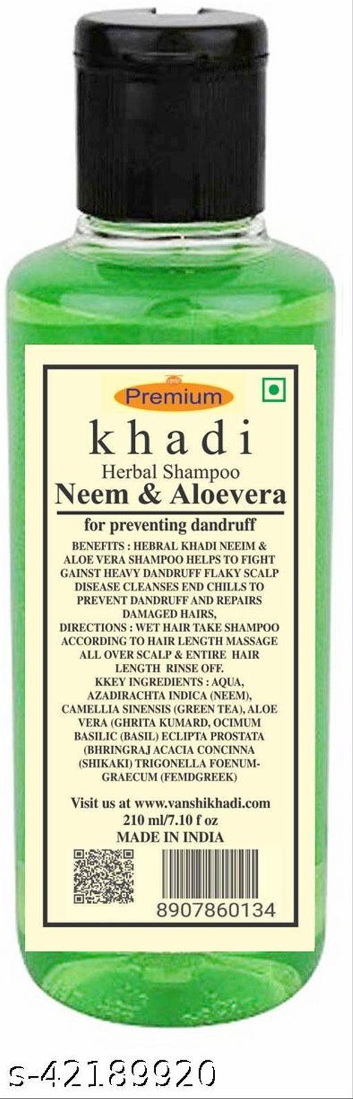 Khadi Herbal Neem & Aloevera Shampoo 210ML