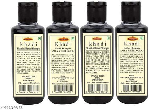 Khadi Herbal Shikakai  Shampoo 210ML ( Pack of 4)