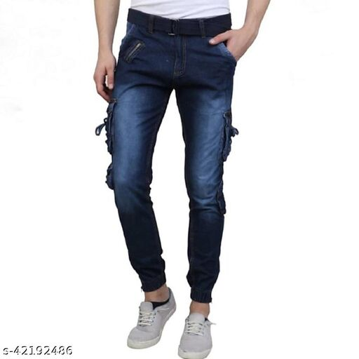 Stylish Men's Cotton Cargo Pants