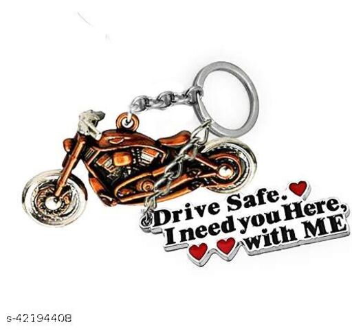Ace Royal Enfield With Drive Safe  Keyring & Keychain