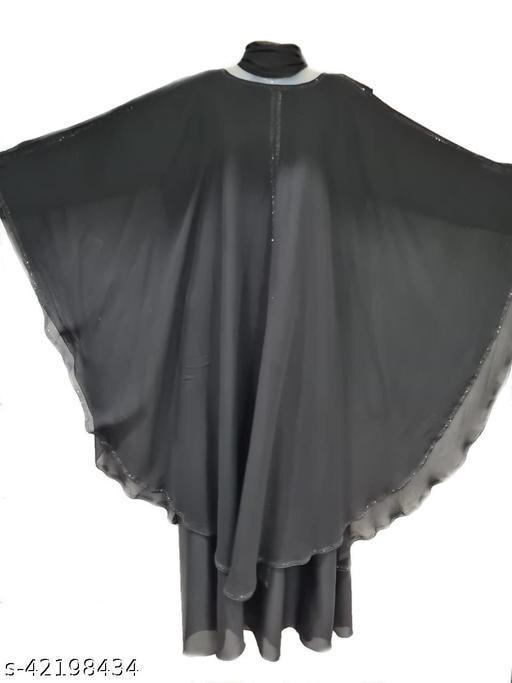 Black PP Farasha in Al Nida Fabric With PP Nug