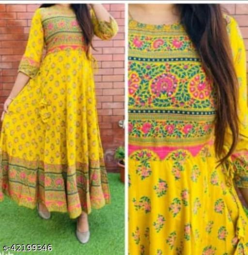 Gemini Attires Beautiful, Styliesh and party wear anarkali Kurti in reyon fabric