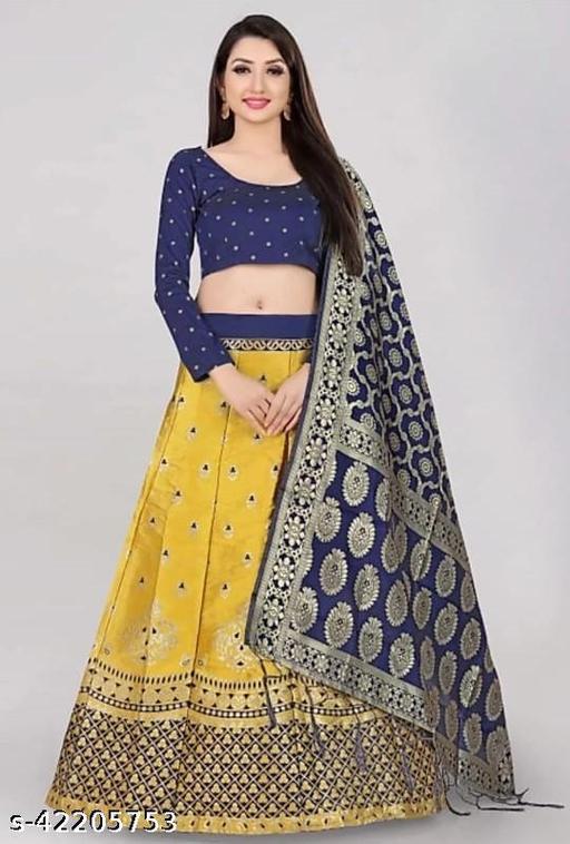 Banarasi Jacquard Self Design Lehenga Choli