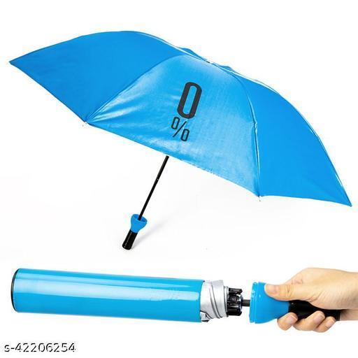 Blue Bottle shaped 2 Fold Auto Open Men/Women UV Protection Monsoon/Rainy & Sun Umbrella