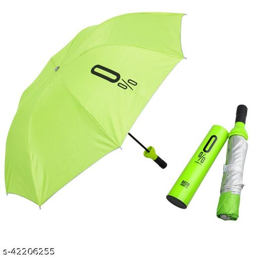 Green Bottle shaped 2 Fold Auto Open Men/Women UV Protection Monsoon/Rainy & Sun Umbrella