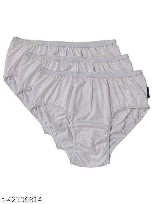 Women Hipster White Cotton Panty (Pack of 3)