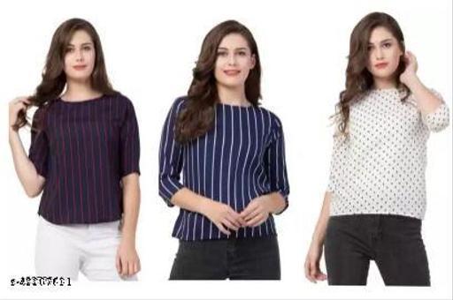 Urbane Feminine Women Tops & Tunics ASET Pack Of 3