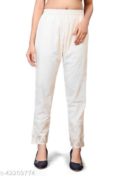Women Cotton Embroidery Pants/Salwar for Kurties