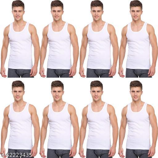 Sleeveless Men's Cotton Vest Pack of 8