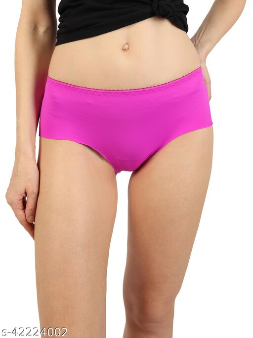 Women Bikini Pink Cotton Panty