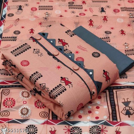 AP WarliPrint Cotton Suit & Dress Material