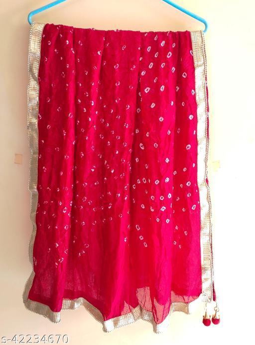 Beautiful Bandhej Silk dupatta for Women