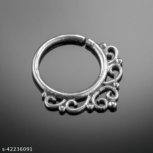 Pure Silver Nose Ring Septum Filigyr Nose Ring Latest Fashion