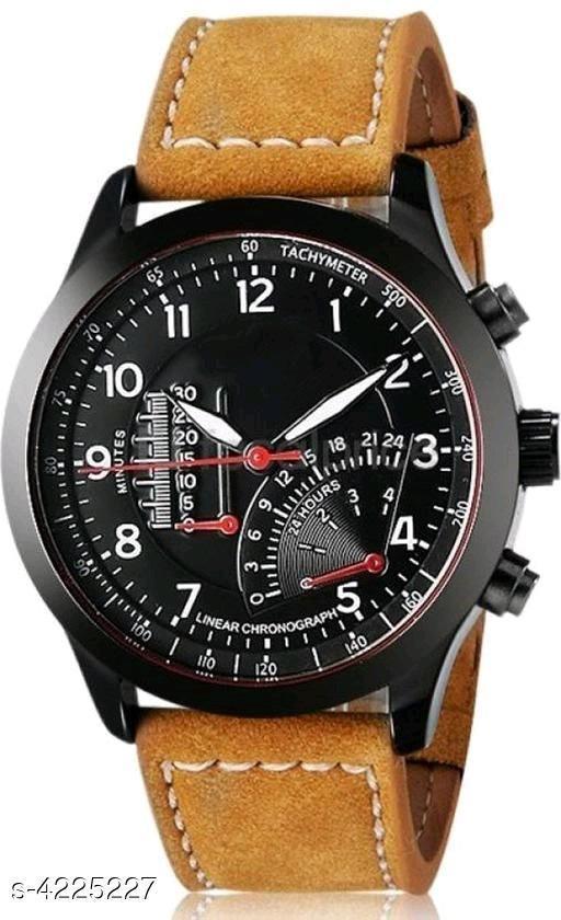 Trendy Leather Men's Watches