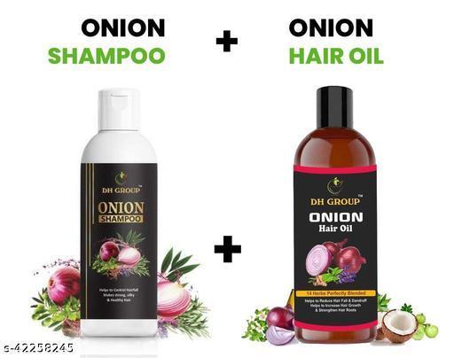 DH GROUP ONION HAIR OIL AND HAIR SHAMPOO HELP TO HAIR FALL & HAIR GROWTH
