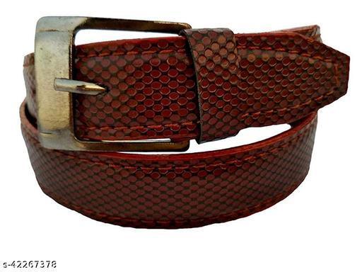 Forever Boy's & Girl's Leather Belt(Pack of 1) Black