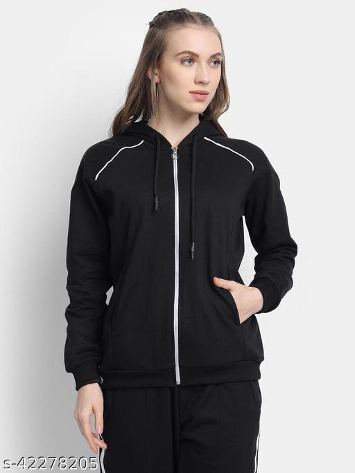 Golden Kite Black Sweatshirt has a Front Zip ,Shoulder Yoke and Pocket detail