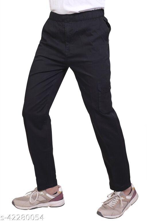 Abc Garments Casual Solid  Track Pant For Men's