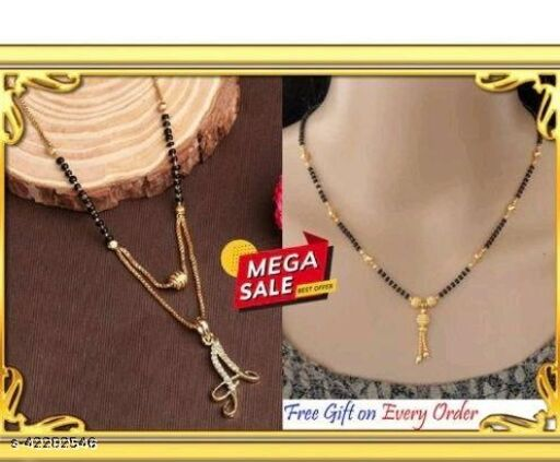 Trendy  Beautiful Alphabet Mangalsutra with free gift